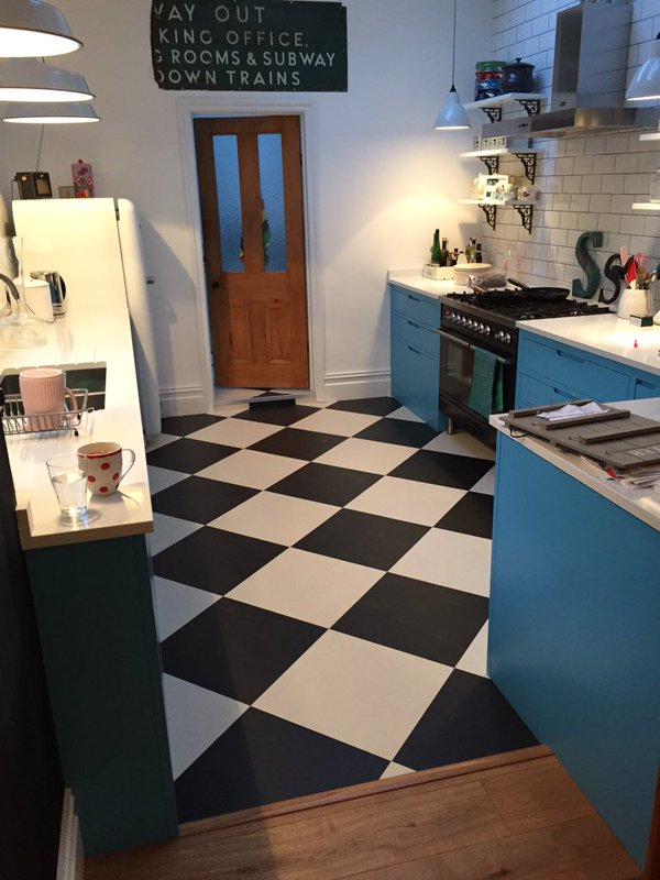 Marmoleum Tiled Floor
