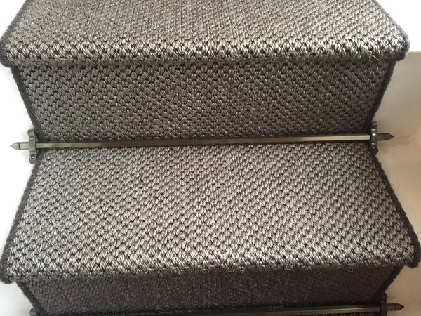 Sisal Tigers Eye whipped edges and Stairrods 1